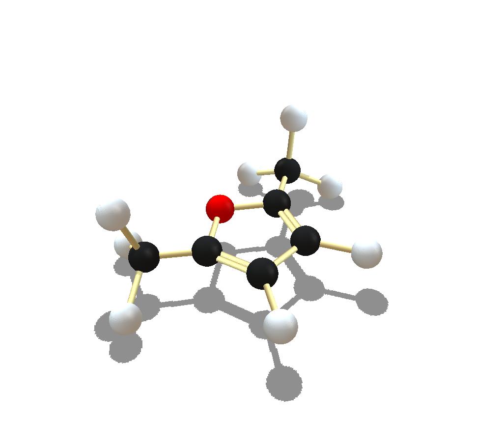Dimethyl furan molecule